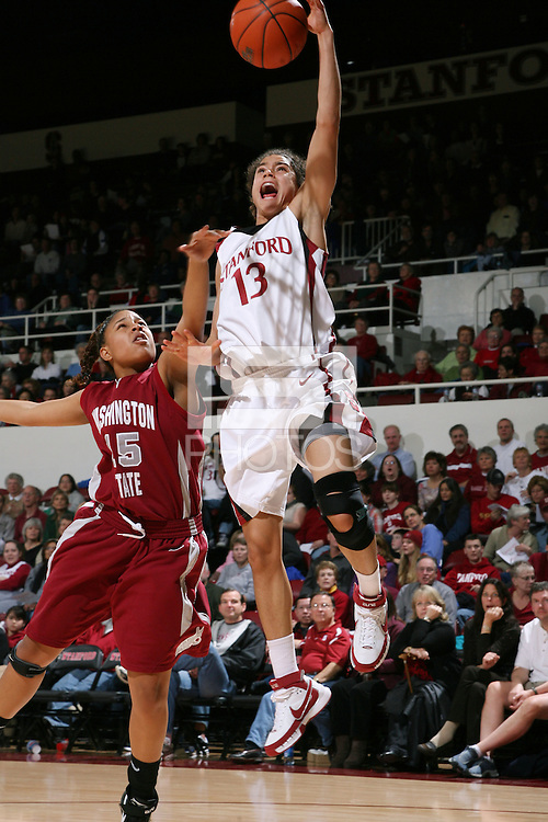 28 December 2007: Cissy Pierce during Stanford's 105-47 win over Washington State at Maples Pavilion in Stanford, CA.