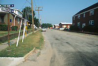 1993 July 09..Conservation.Cottage Line..POOR STREET CONDITIONS.KINGSTON LOOKING WEST ON CAPE VIEW...NEG#.NRHA#..