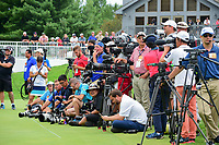 Media await the trophy shots with Hideki Matsuyama (JPN) following Sunday's final round of the World Golf Championships - Bridgestone Invitational, at the Firestone Country Club, Akron, Ohio. 8/6/2017.<br /> Picture: Golffile | Ken Murray<br /> <br /> <br /> All photo usage must carry mandatory copyright credit (&copy; Golffile | Ken Murray)