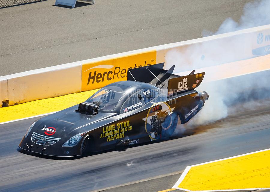 Jul 30, 2017; Sonoma, CA, USA; NHRA funny car driver Terry Haddock during the Sonoma Nationals at Sonoma Raceway. Mandatory Credit: Mark J. Rebilas-USA TODAY Sports
