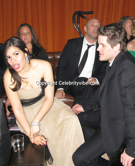 America Ferrera with boyfriend Ryan Piers Williams..SAG Awards Post Party.Shrine Auditorium.Los Angeles, CA, USA.Sunday, January 25 2009.Photo By Celebrityvibe.com.To license this image please call (212) 410 5354; or Email: celebrityvibe@gmail.com ;.website: www.celebrityvibe.com  .