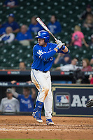 T.J. Collett (5) of the Kentucky Wildcats at bat against the Louisiana Ragin' Cajuns in game seven of the 2018 Shriners Hospitals for Children College Classic at Minute Maid Park on March 4, 2018 in Houston, Texas.  The Wildcats defeated the Ragin' Cajuns 10-4.  (Brian Westerholt/Four Seam Images)