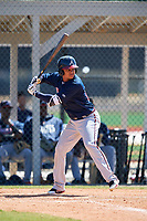 Atlanta Braves Derian Cruz (20) during a Minor League Spring Training game against the Detroit Tigers on March 22, 2018 at the TigerTown Complex in Lakeland, Florida.  (Mike Janes/Four Seam Images)