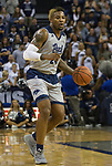 Nevada forward Jordan Caroline (24) dribbles against Little Rock in the second half of an NCAA college basketball game in Reno, Nev., Friday, Nov. 16, 2018. (AP Photo/Tom R. Smedes)
