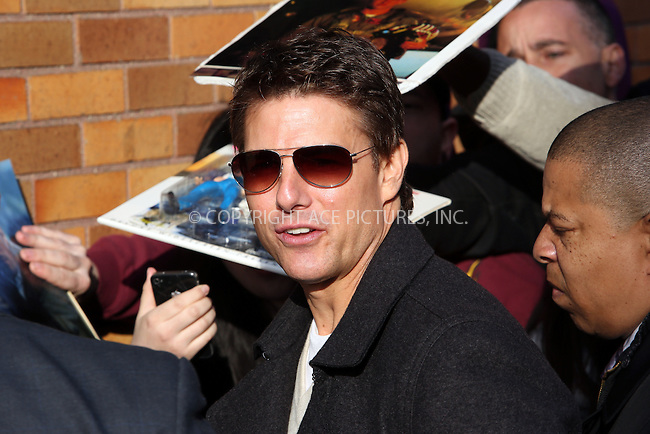 WWW.ACEPIXS.COM....April 16 2013, New York City....Actor Tom Cruise made an appearance at the Jon Stewart Show on April 16 2013 in New York City......By Line: Philip Vaughan/ACE Pictures....ACE Pictures, Inc...tel: 646 769 0430..Email: info@acepixs.com..www.acepixs.com