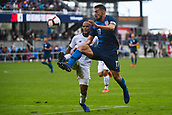 February 2nd 2019, San Jose, California, USA; USA midfielder Sebastian Lletget (17) in action against Costa Rica defender Pablo Arboine (3) during the international friendly match between USA and Costa Rica at Avaya Stadium on February 2, 2019 in San Jose CA.