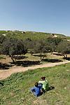 Israel, Shephelah region. A view of Tel Maresha