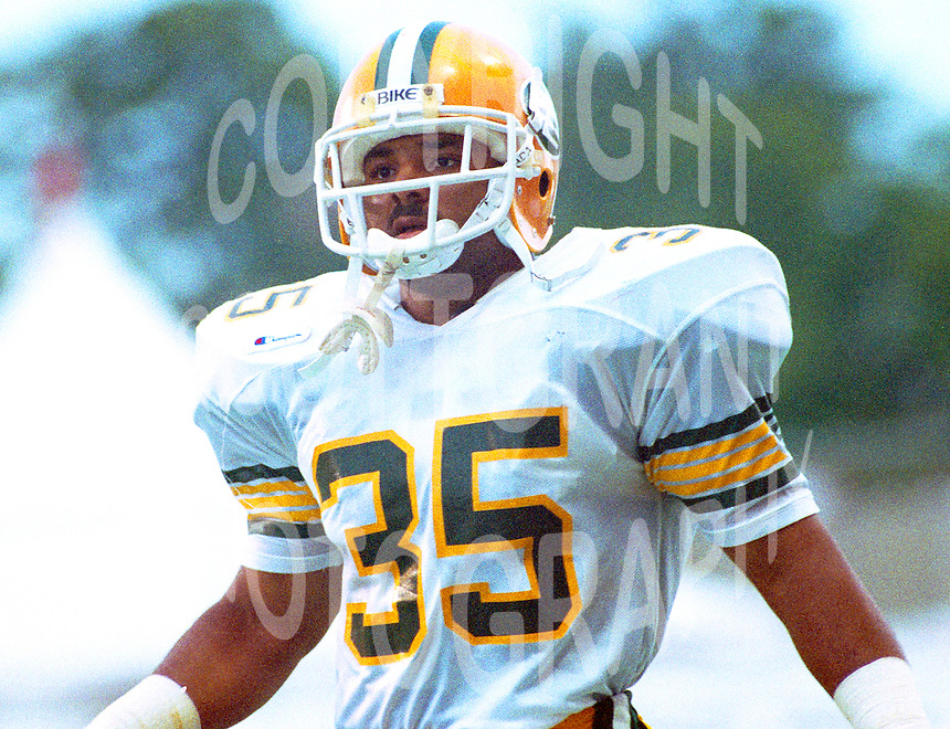 Chris Skinner 1988 Edmonton Eskimos. Photo John Bradley