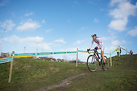 Helen Wyman (GBR) leading from start to finish<br /> <br /> 2014 Noordzeecross