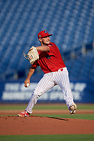 Clearwater Threshers starting pitcher Julian Garcia (24) during a Florida State League game against the Charlotte Stone Crabs on May 17, 2019 at Spectrum Field in Clearwater, Florida.  Charlotte defeated Clearwater 12-4.  (Mike Janes/Four Seam Images)