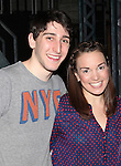 Ben Fankhauser & Kara Lindsay.attending the Actors' Equity Broadway Opening Night Gypsy Robe Ceremony for Aaron J. Albano in.'Newsies - The Musical' at the Nederlander Theatre in NewYork City on 3/29/2012
