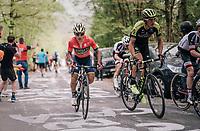 Roman Kreuziger (CZE/Michelton-Scott) up the C&ocirc;te de la Roche aux Faucons<br /> <br /> 104th Li&egrave;ge - Bastogne - Li&egrave;ge 2018 (1.UWT)<br /> 1 Day Race: Li&egrave;ge - Ans (258km)