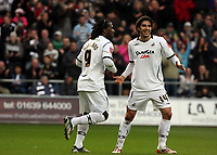 ATTENTION SPORTS PICTURE DESK<br /> Pictured: Jason Scotland of Swansea (L) celebrating his equaliser from the penalty spot with team mate Jordi Gomez (R).<br /> Re: Coca Cola Championship, Swansea City FC v Doncaster Rovers at the Liberty Stadium. Swansea, south Wales, Saturday 21 February 2009<br /> Picture by D Legakis Photography / Athena Picture Agency, Swansea 07815441513