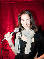 Stand-up open mic at the beer hall,  Condesa / Roma, Mexico DF