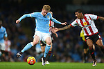 Kevin De Bruyne of Manchester City in action against Patrick van Aanholt of Sunderland - Manchester City vs Sunderland - Barclays Premier League - Etihad Stadium - Manchester - 26/12/2015 Pic Philip Oldham/SportImage