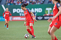 Portland, OR - Saturday May 06, 2017: Nadia Nadim during a regular season National Women's Soccer League (NWSL) match between the Portland Thorns FC and the Chicago Red Stars at Providence Park.
