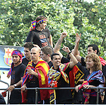 2011 Rua per els carrers de Barcelona i festa de celebracio al Camp Nou de la champions league