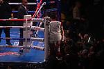 NOV 23 2019 Las Vegas Nevada: Brandon Figueroa.  (Red White trunks) 122lb Weslaco TX. Vs Julio Ceja (White trunks)   Tianepantla, 126.5lbs  MEX WBA World Super Bantamweight  12 rounds on FS2/PBC