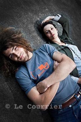 Genève, le 02.06.2010.Robin et dunja de rock this town..© Le Courrier / J.-P. Di Silvestro