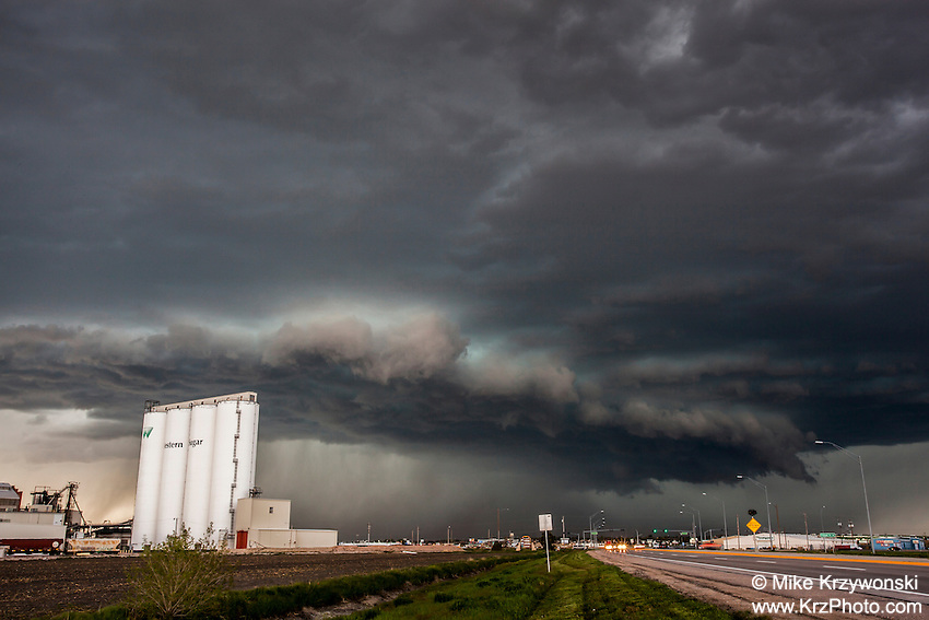 Supercell thunderstorm over Scottsbluff, NE, May 20, 2014