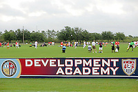 US Soccer Development Academy signboard during day one of the US Soccer Development Academy  Spring Showcase in Sarasota, FL, on May 22, 2009.