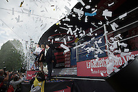 white jersey celebrations for Bob Jungels (Lux/Etixx-Quickstep)<br /> <br /> stage 21: Cuneo - Torino 163km<br /> 99th Giro d'Italia 2016