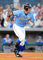 April 10, 2009: Outfielder Cody Johnson (17) of the Myrtle Beach Pelicans, Class A affiliate of the Atlanta Braves, in a game against the Wilmington Blue Rocks at BB&T Coastal Field in Myrtle Beach, S.C. Photo by:  Tom Priddy/Four Seam Images