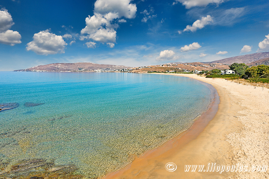 St. Peter has the best beach in Andros, Greece