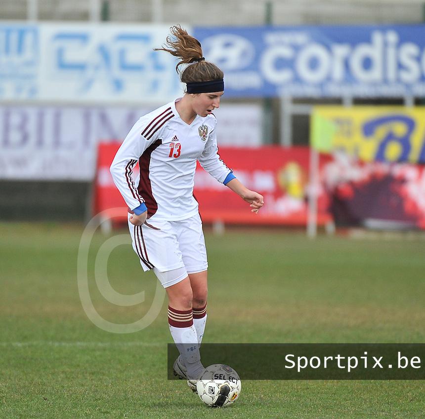 Russia U19 - Belgium U19 : Anastasia Shevchenko.foto DAVID CATRY / Nikonpro.be