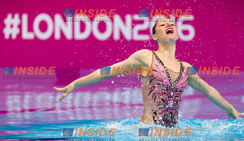 HUBAUD Estel Anais FRA<br /> London, Queen Elizabeth II Olympic Park Pool <br /> LEN 2016 European Aquatics Elite Championships <br /> Synchro<br /> Solo free final <br /> Day 02 10-05-2016<br /> Photo Giorgio Perottino/Deepbluemedia/Insidefoto
