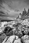 Lighthouse on the coast of Maine