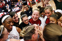 STANFORD, CA - DECEMBER 19:  Nnemkadi Ogwumike, Sarah Boothe, Hannah Donaghe, Mikaela Ruef, Joslyn Tinkle, Grace Mashore, Melanie Murphy and Jayne Appelof the Stanford Cardinal during Stanford's 67-52 win over the Tennessee Lady Volunteers on December 19, 2009 at Maples Pavilion in Stanford, California.