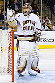Cory Schneider (Boston College - Marblehead, MA) - The Boston College Eagles defeated the Harvard University Crimson 3-1 in the first round of the 2007 Beanpot Tournament on Monday, February 5, 2007, at the TD Banknorth Garden in Boston, Massachusetts.  The first Beanpot Tournament was played in December 1952 with the scheduling moved to the first two Mondays of February in its sixth year.  The tournament is played between Boston College, Boston University, Harvard University and Northeastern University with the first round matchups alternating each year.