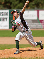 GREEN BAY - June 2015: Green Bay Bullfrogs pitcher Matt McCarthy (16) during a Northwoods League game against the Kenosha Kingfish on June 21st, 2015 at Joannes Park in Green Bay, Wisconsin. Green Bay defeated Kenosha 10-7. (Brad Krause/Krause Sports Photography)
