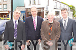 Fianna Fail  leader Micheal Martin meets Cllr John Joe Culloty, Denis Carroll and Cllr John O'Donoghue when he campaigned in Killarney on Monday for the Yes vote in the upcoming referendum