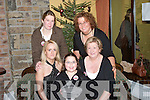 FAMILY: Women's Christmas dinner being enjoyed at Kirbys Lanterns Hotel, Tarbert, by the Spillane family on Saturday. Front l-r: Sabrina, Layna and Kit Spillane. Back l-r: Teresa Spillane and Karen McMonagle..