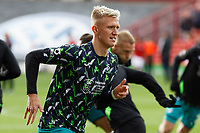 Sam Surridge of Swansea City warms up prior to the game during the Sky Bet Championship match between Barnsley and Swansea City at Oakwell Stadium, Barnsley, England, UK. Saturday 19 October 2019