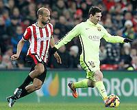 Atletic de Bilbao's Mikel Rico (l) and FC Barcelona's Leo Messi during La Liga match.February 8,2015. (ALTERPHOTOS/Acero) /NORTEphoto.com