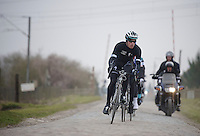 Paris-Roubaix 2013 RECON..Iljo Keisse (BEL) leading the OPQS recon.