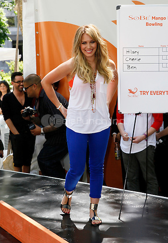 "25 May 2011 - New York , NY - Actress Hilary Duff pictured at the SoBe ""Try Everything"" Experience event at Madison Square Park. Photo Credit: © Martin Roe / MediaPunch Inc."