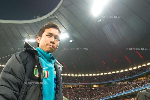 Yuto Nagatomo (Inter), MARCH 15, 2011 - Football : UEFA Champions League Round of 16, 2nd leg match between FC Bayern Muenchen 2-3 Inter Milan at Allianz Arena in Munich, Germany. (Photo by Enrico Calderoni/AFLO SPORT) [0391]