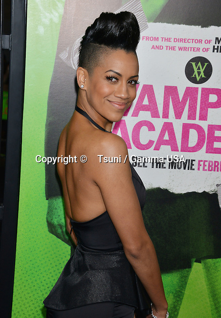 Dominique Tipper 178 arriving at Vampire Academy Premiere at the REGAL Theatre In Los Angeles.