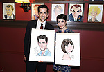 Robert Fairchild and Leanne Cope attend 'An American In Paris' Sardi's Caricature Unveiling at Sardi's on May 28, 2015 in New York City.