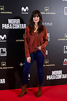 Cristina Abad attends to 'Morir para contar' film premiere during the Madrid Premiere Week at Callao City Lights cinema in Madrid, Spain. November 13, 2018. (ALTERPHOTOS/A. Perez Meca) /NortePhoto.com