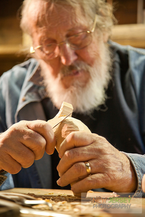 Duck Carver working with wood