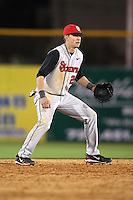 February 26, 2010:  Shortstop Joe Panik (2) of the St. John's Red Storm during the Big East/Big 10 Challenge at Bright House Field in Clearwater, FL.  Photo By Mike Janes/Four Seam Images