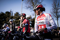eventual race winner Ceylin Del Carmen Alvarado (NED/Corendon-Circus) relaxed at the race start<br /> <br /> Azencross Loenhout 2019 (BEL)<br />  <br /> ©kramon