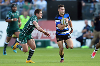 Max Green of Bath Rugby goes on the attack. Aviva Premiership match, between Bath Rugby and London Irish on May 5, 2018 at the Recreation Ground in Bath, England. Photo by: Patrick Khachfe / Onside Images