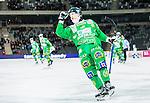 Stockholm 2015-03-14 Bandy Bronsmatch Hammarby IF - Villa Lidk&ouml;ping BK :  <br /> Hammarbys Markus Kumpuoja firar sitt 5-5 m&aring;l under matchen mellan Hammarby IF och Villa Lidk&ouml;ping BK <br /> (Foto: Kenta J&ouml;nsson) Nyckelord:  Tele2 Arena SM Brons Bronsmatch Tredjepris herr herrar Hammarby HIF Bajen Villa Lidk&ouml;ping VLBK jubel gl&auml;dje lycka glad happy