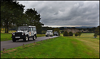 BNPS.co.uk (01202 558833)<br /> Pic: Longleat/BNPS<br /> <br /> International Rescue - A convoy of vehicles leave Longleat to collect the first Southern Koala's to be seen in Europe.<br /> <br /> One of Australia's most iconic but increasingly threatened species has received a boost as a group of koalas have arrived in Britain to start a new European breeding group.<br /> <br /> The five southern koalas, four females and one male, are part of a ground-breaking initiative to start a new breeding programme for Europe, a sort of back-up population away from the threats the species face in their home country, such as bushfires and disease.<br /> <br /> The cuddly marsupials made the epic journey from Adelaide in Australia to Longleat in Wiltshire, which will be the only place in Europe visitors can see the bigger of the country's two subspecies.<br /> <br /> Longleat has created a special new enclosure for them, including developing a 4,000-tree eucalyptus plantation to keep the koalas well-fed.<br /> <br /> Both the South Australian Government and Cleland Wildlife Park have very strict rules on allowing the animals out of the country.